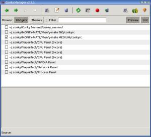 Schermata-Conky Manager v2.3.3