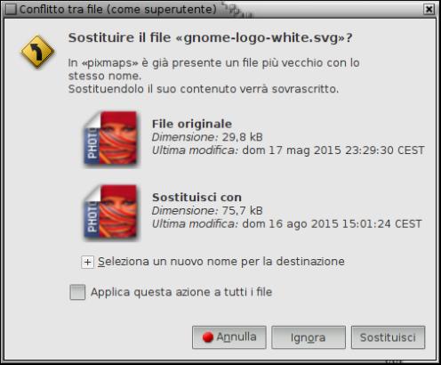 Schermata-Conflitto tra file