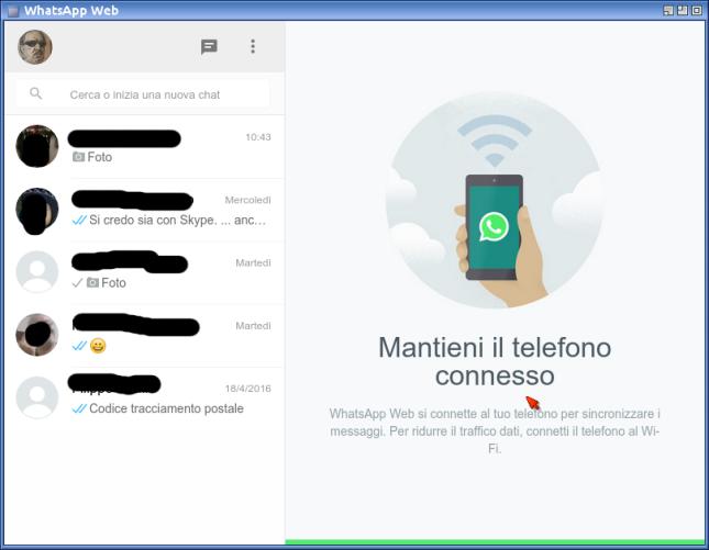 Schermata-WhatsApp Web